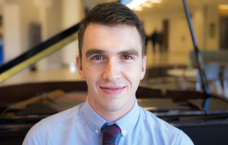 Medical student Jesse Wayson loves music