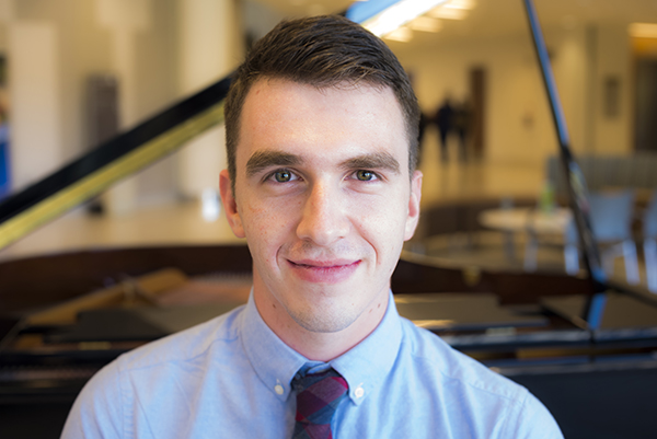 Medical student Jesse Wayson loves music