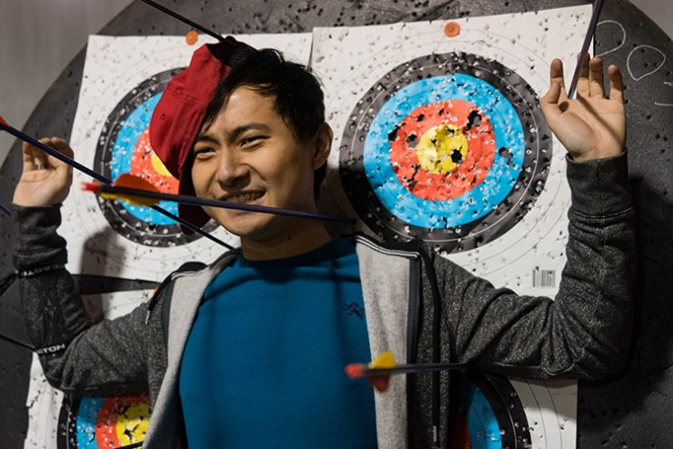 Medical student Matt Luo loves archery as a way to wind down.