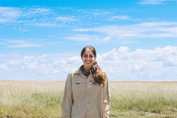Mina Momtahan, ecology major, travels to Tanzania