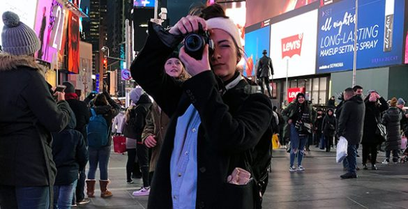Photography student Erica Langsam at Augusta University