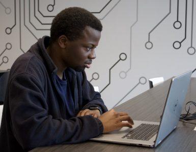 Computer science major Justin DeShong