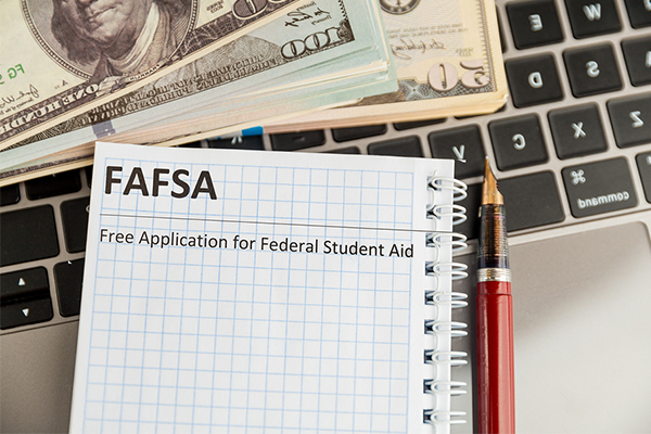 Graph paper with FAFSA typed on it
