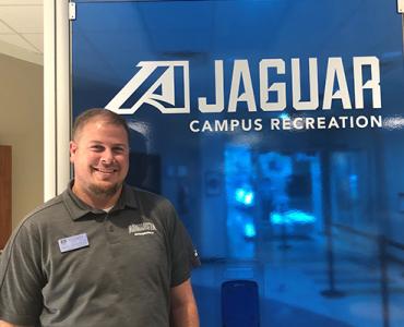 Bryan Waller standing in the Campus Recreation Center
